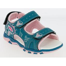 V+J Dívčí sandály - tyrkysovo-růžové