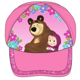 E plus M Dívčí kšiltovka Máša a Medvěd - růžová