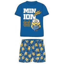 E plus M Chlapecké letní pyžamo Mimoni - modré