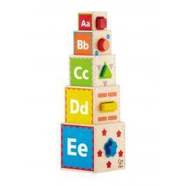Hape Toys Kostky pyramida s vkládacími tvary