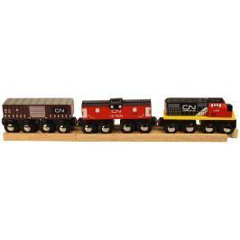 Bigjigs CN nákladní vlak + koleje