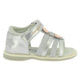 Canguro Dívčí sandály s hvězdičkami - stříbrné