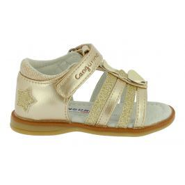 Canguro Dívčí sandály s hvězdičkami - zlaté