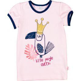 MMDadak Dívčí tričko s papouškem Little Jungle - růžové
