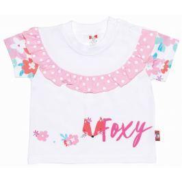 2be3 Dívčí tričko s liškou Foxy - bílé