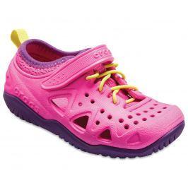 Crocs Dívčí sandály Swiftwater Play Shoe - růžové