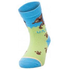 Unuo Chlapecké bambusové ponožky Evžen - zeleno-tyrkysové