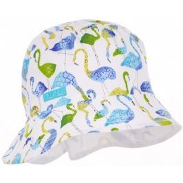Pupill Dívčí klobouček Flamingo- bílo-modrý