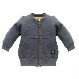 Pinokio Chlapecký kabátek Funny Dog - tmavě šedý