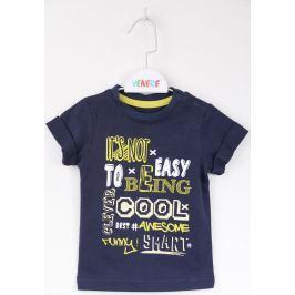 Venere Chlapecké tričko Boss s potiskem - modré
