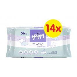 Bella Happy Classic Sensitive čistící ubrousky á 56 x 14