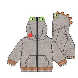 Mix 'n Match Chlapecká mikina s dinosaurem - šedá