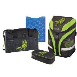 Herlitz Školní batoh motion dino zelený-vybavený