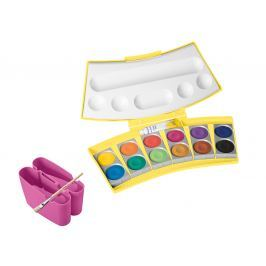PELIKAN Vodové barvy ProColor 12 barev, v žlutorůžové krabičce