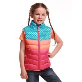 ALPINE PRO Dívčí vesta Kapeto - barevná