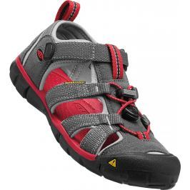 Keen Chlapecké sandály Seacamp II CNX, magnet/racing red