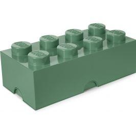 LEGO Úložný box kostka velká - khaki