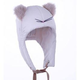 Pupill Dívčí čepice Cat - světle béžová