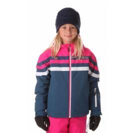 Nordblanc Dívčí zimní bunda Peppy - modro-růžová