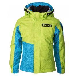 O'Style Dětská rostoucí bunda Ice - zeleno-modrá