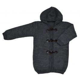 EKO Dětský svetr s kapucí - tmavě šedý