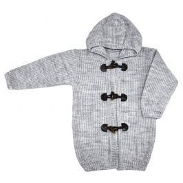 EKO Dětský svetr s kapucí - světle šedý