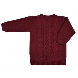 EKO Dívčí svetr - tmavě červený