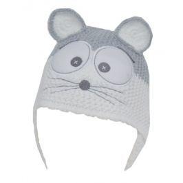 EKO Dívčí čepice Myška - bílá