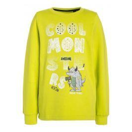 Blue Seven Chlapecká mikina Monster - žlutá