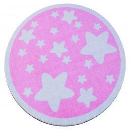 Hanse Home Dětský kulatý koberec Hvězdičky, růžový