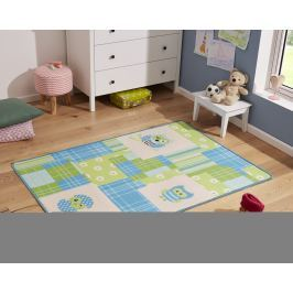 Hanse Home Dětský koberec Sovičky, 100x140 cm - modro-zelený