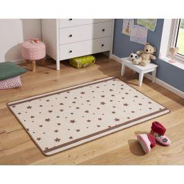 Hanse Home Dětský koberec Srdíčka a kytičky, 100x140 cm - béžovo-hnědý