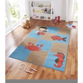 Hanse Home Dětský koberec Mořská panna a rybka, 140x200 cm - béžovo-modrý