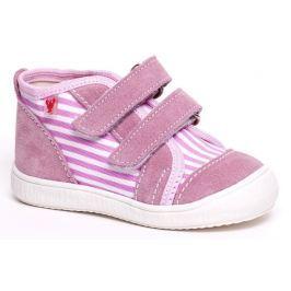 RAK Dívčí kotníčkové tenisky Rozárka - růžovo-bílé