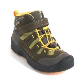 Keen Chlapecké outdoorové boty Hikeport Mid WP - hnědo-žluté