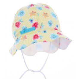 Pupill Dívčí klobouček s květinami Freesia - žlutý