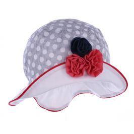 Pupill Dívčí klobouček s květinkou Rivage - šedý