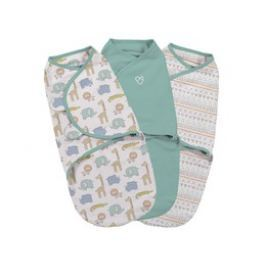 Summer Infant Zavinovačka SwaddleMe S, safari sada 3ks
