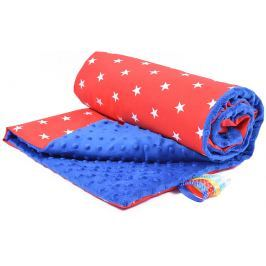 My Best Home Minky deka Plus 50x75 cm, hvězdy modrá-červená