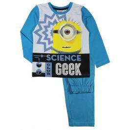 E plus M Chlapecké pyžamo Mimoni - světle modré