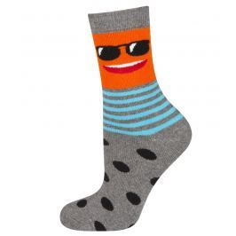 SOXO® Dětské ponožky s obličejem - šedé