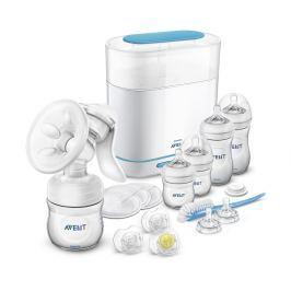 Philips Avent Sada manuální odsávačka + sterilizátor parní elektrický 3 v 1