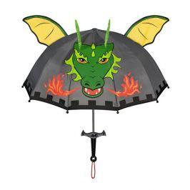 Blooming Brollies Chlapecký deštník s drakem - tmavě šedý
