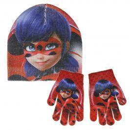 Disney Brand Dívčí set čepice a rukavic Ladybug - barevný