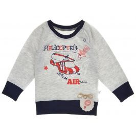 Garnamama Chlapecké tričko s vrtulníkem - šedá