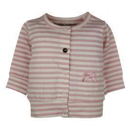 Dirkje Dívčí proužkovaný kabátek - růžový