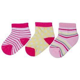 G-mini Dívčí set 3 párů ponožek - barevný
