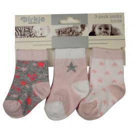 Dirkje Dívčí ponožky s hvězdičkami - barevné