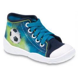 Befado Chlapecké kotníkové tenisky s fotbalovým míčem Maxi - zeleno-modré