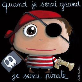 Label Tour Obrázek na plátně Pirát, 30x30 cm - černý